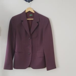 United Colors of Benetton plum blazer